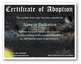 Adopt a Star for Mother's Day