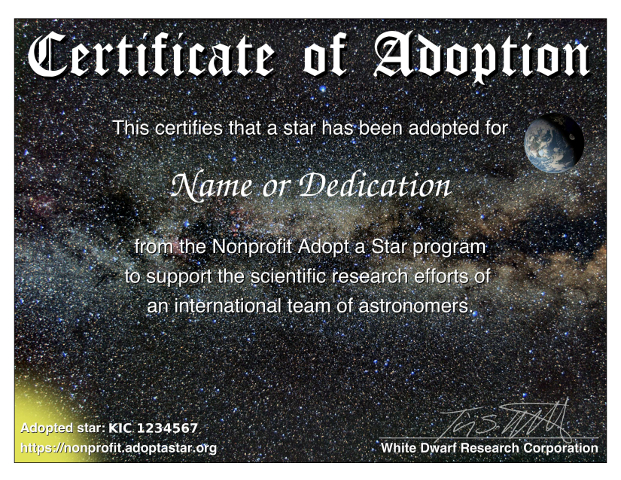 Adopt a Star - the nonprofit alternative that supports